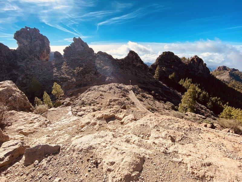Wanderweg zum Roque Nublo auf Gran Canaria