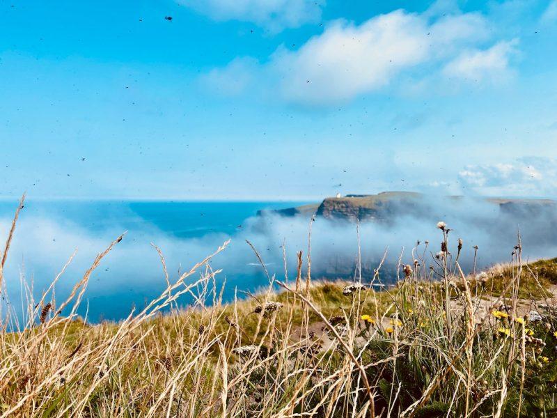 Wolken bei Cliffs of Moher