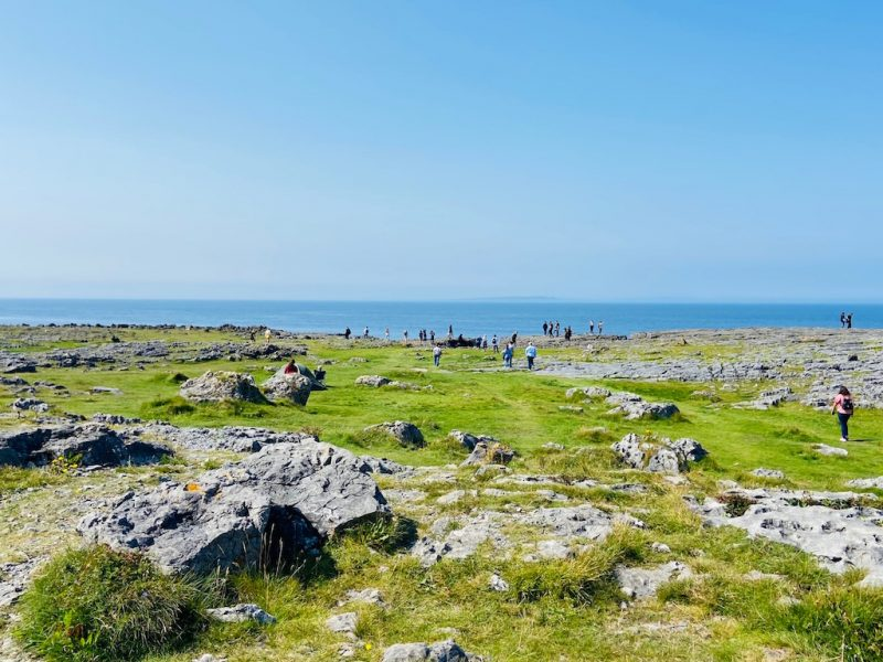 Landschaft bei The Burren Nationalpark an der Westkueste von Irland