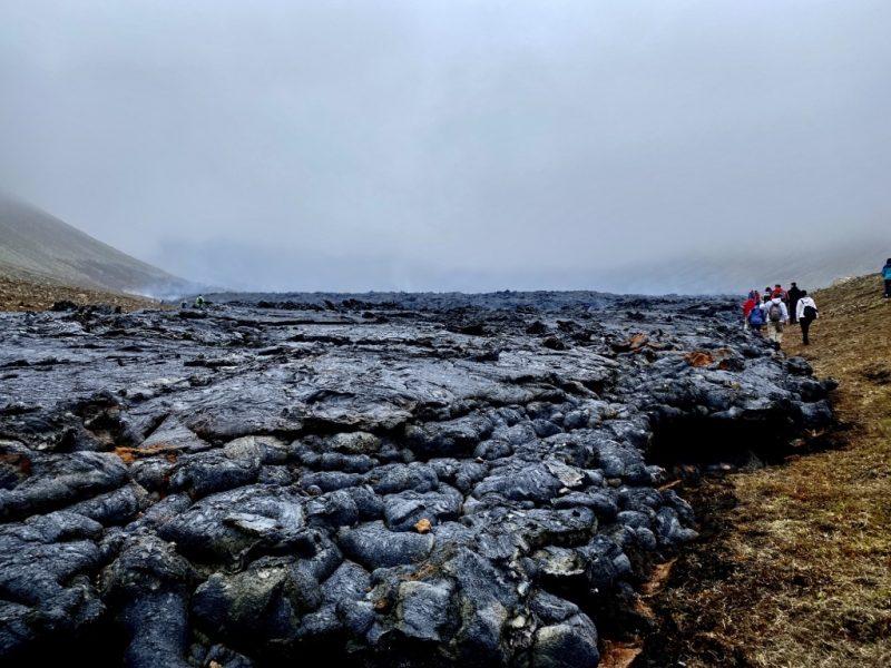 Lavafluss im Natthagi Tal auf Island