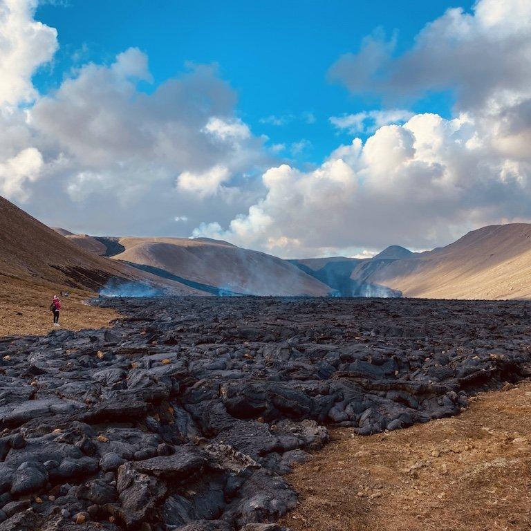 Westisland Roadtrip - Lavameer im Natthagi Tal auf Reykjanes Halbinsel