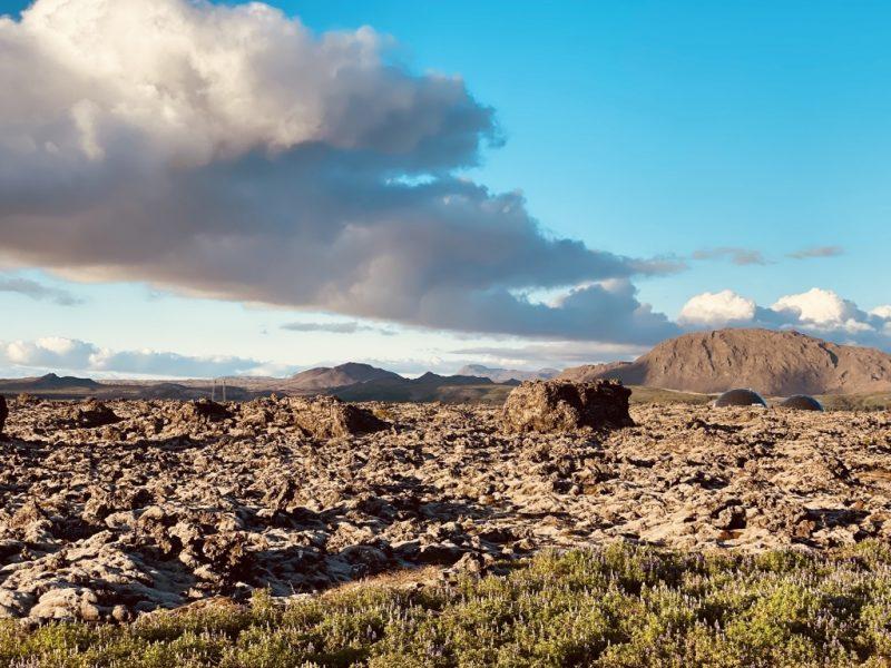 Lavafelder auf der Reykjanes Halbinsel
