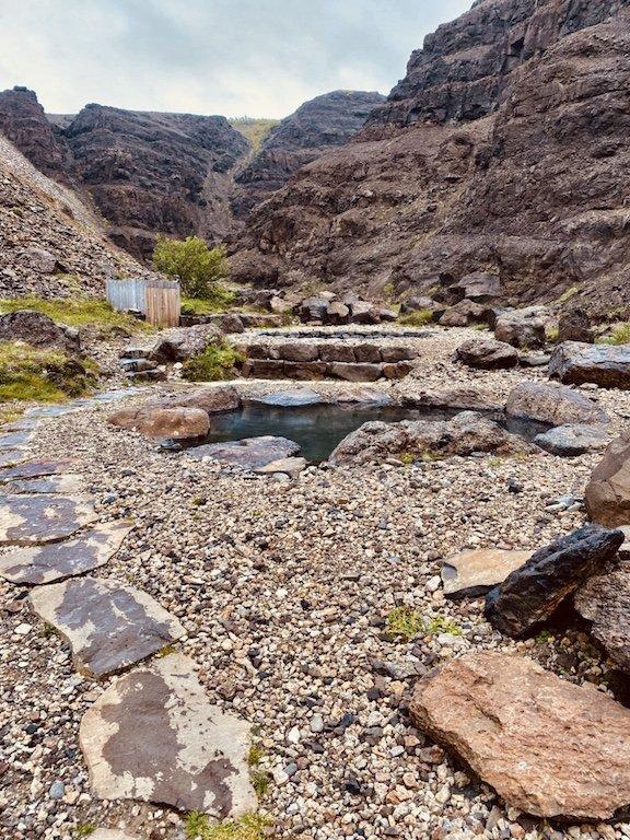 Westisland Roadtrip - Husafell Canyon Baths