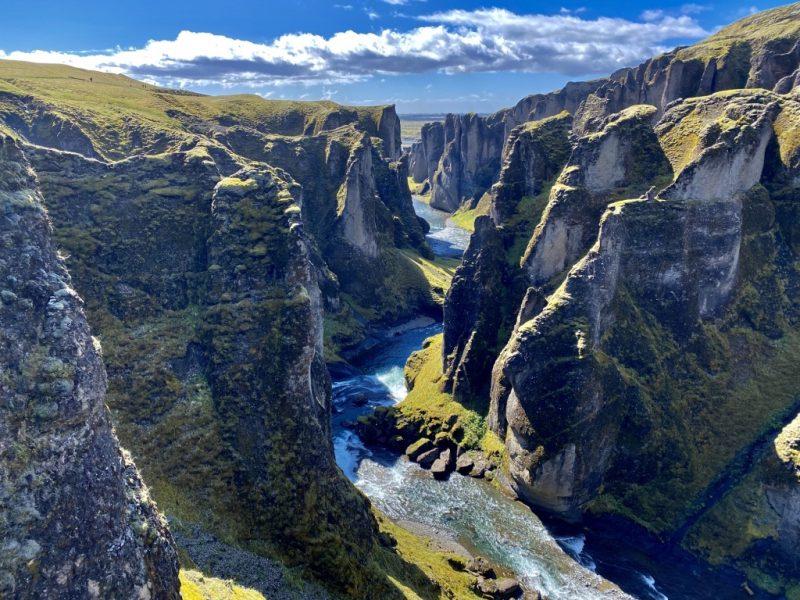 Islands Südküste - Sicht in Fjadrargljufur Canyon