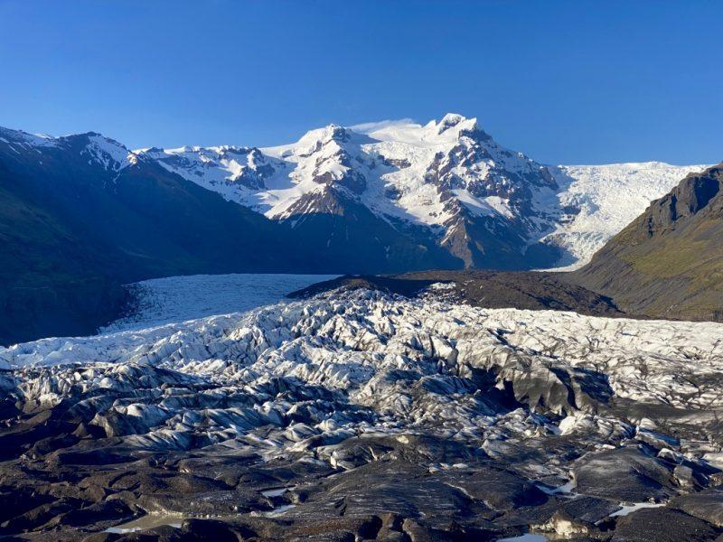 Islands Südküste - Svinafellsjoekull Gletscherzunge